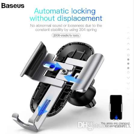 Baseus Car Phone Holder for iPhone Samsung Mobile Phone Holder Metal Gravity Car Air Vent Mount GPS Cell Phone Holder Stand