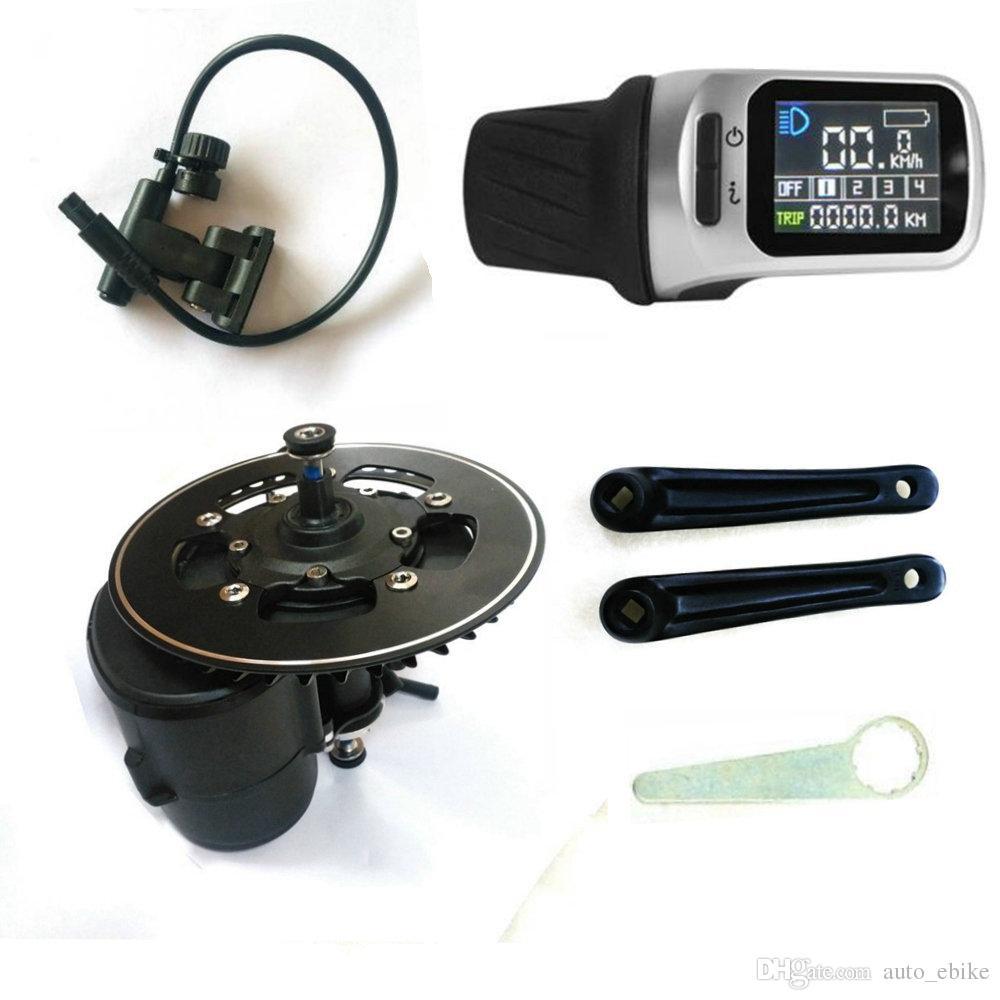 TSDZ2 Mid Central Conversion Motor Kit eBike Capteur de couple 36V 350W 42T Vélo électrique VLCD5XH18 LCD