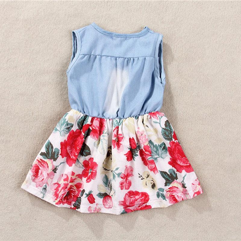 Hot Sale Children Girls Summer Models Girls Vest Jeans Dress + Jacket 2pc Suits girls dresses summer 2016 robe fille enfant mini