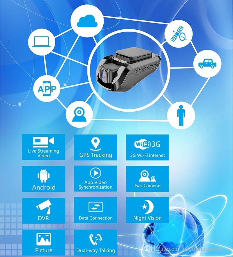 Original 3G Wifi Real Time GPS Tracking Dash Camera,1080P video recording car dvr ,Night Vision, Android 5.1 system