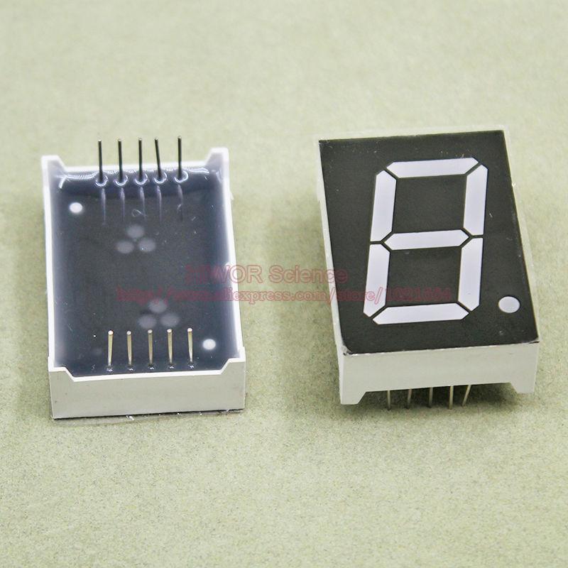 (10pcs/lot) 10 Pins 10011AR 1 Inch 1 Bit Digit 7 Segment Red LED Display Share Common Cathode Digital Display