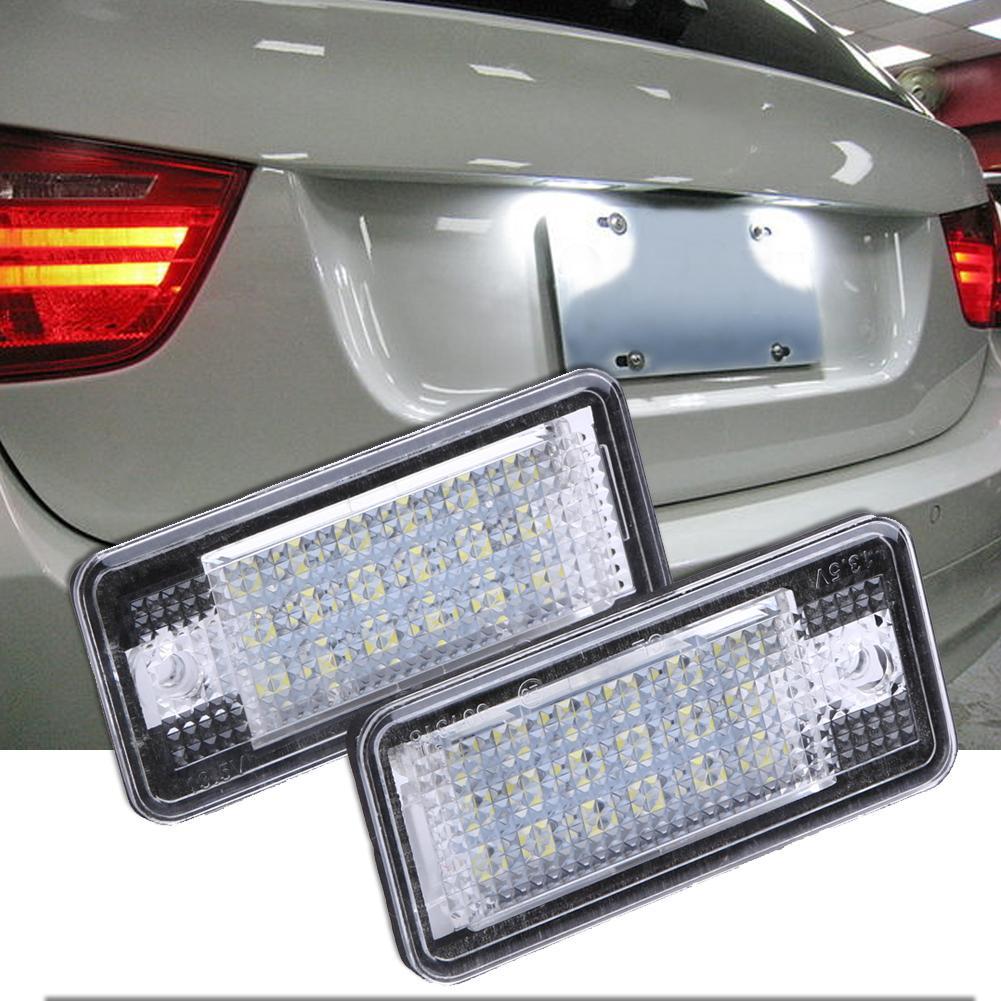 Light Lamp Error 18 LED 1 Coppia 18 LED scheggia 13.5V Bianco auto Numero targa per A3 S3 A4 A8 B6