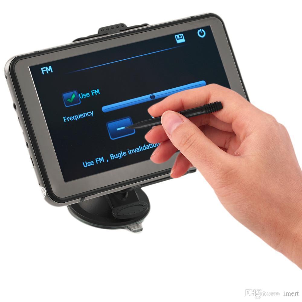 Nueva navegación GPS de coche de 7 pulgadas FM 4GB Navigator Speedcam SAT NAV Navigation System Poi Grey Drop Ship