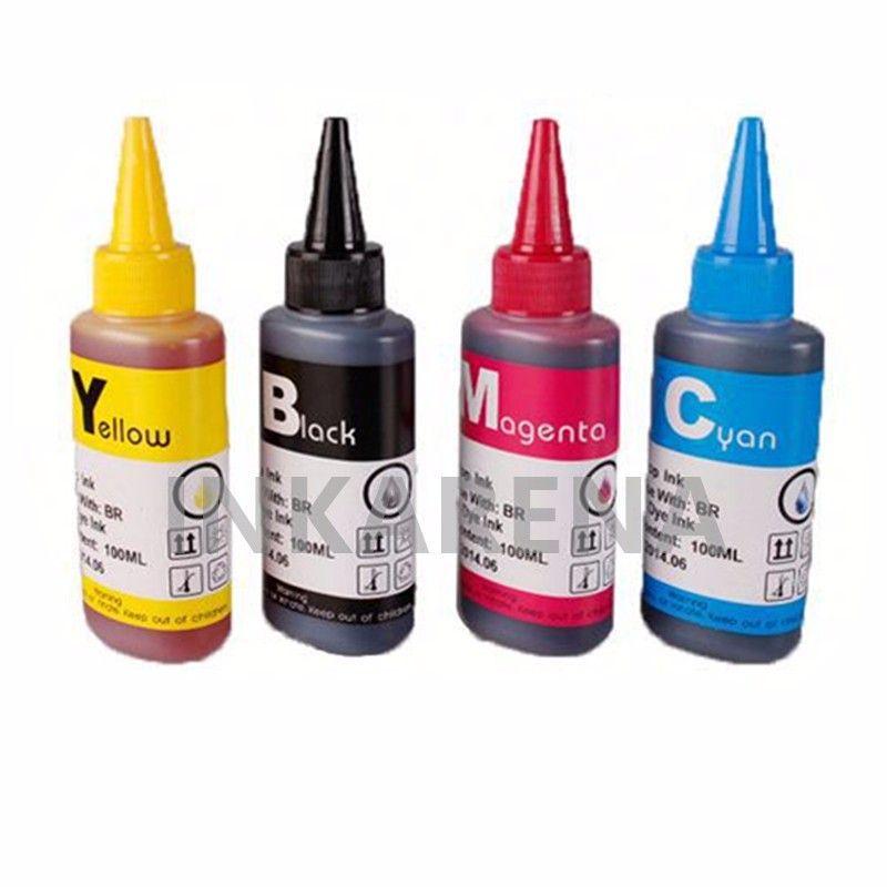 400ML Recargue tinta de tinte para HP Designjet 500 500ps 800 800ps 815m Tinta de impresora Para HP 10 82 Kits de recargables de botellas de cartucho CISS