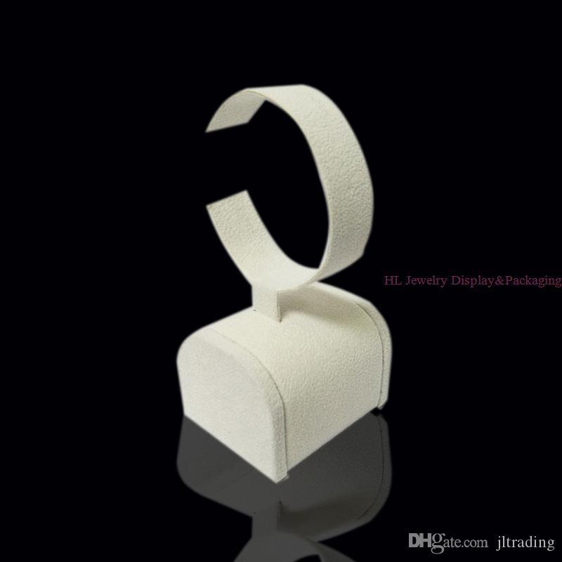 Marke Hohe Qualität Schmuckständer Diamant Goldenen Armreif Display Halter C Kragen Schaufenster In Beige Samt