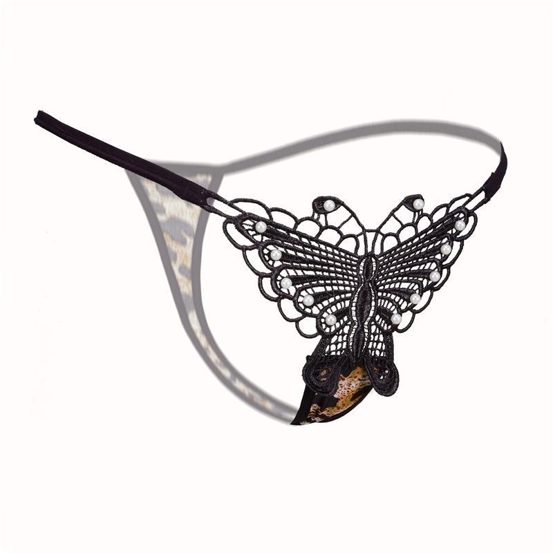 레이스 G - String 여성 섹시 나비 속옷 친밀한 낮은 허리 가죽 끈 G String Panty Ladies Women 자수 속옷 란제리 팬티