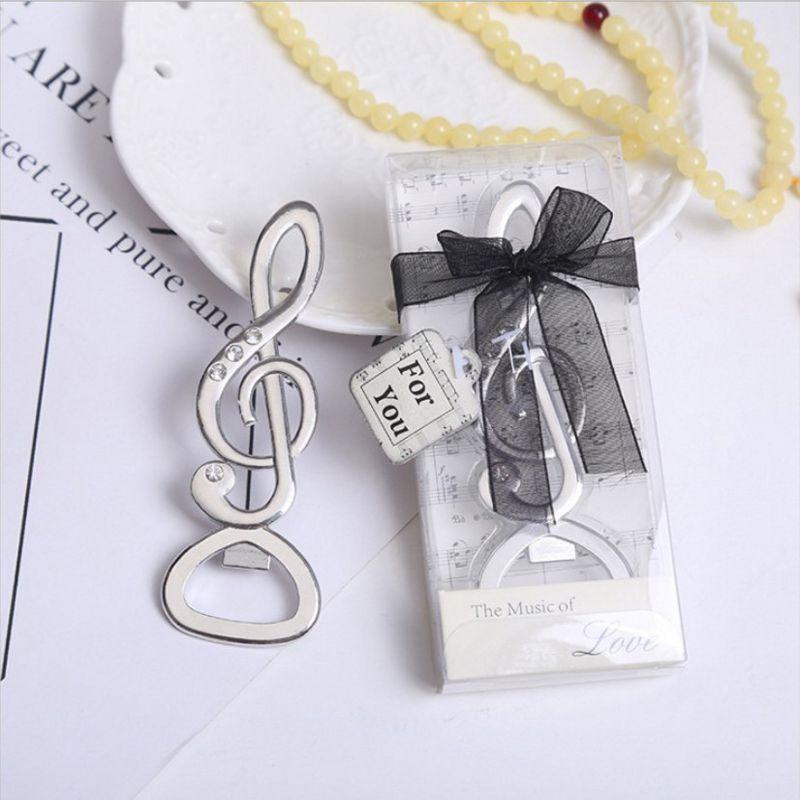 Diamond Music Note Bottle Opener LOVE Key Symphony Chrome Beer Opener Wedding Shower Favors Bottle Opener Party Christmas Gift 6 Designas