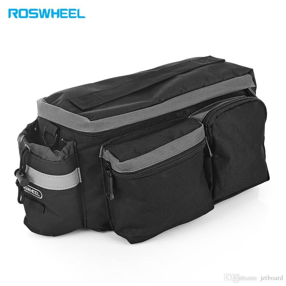 ROSWHEEL 6L Multifunctional Mountain Bike Road Bicycle Bag Cycling Rear Rack Tail Seat Pannier with the detachable belt for shoulder carryin