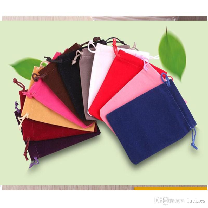 Fashion 7x9cm Drawstring Pouch Bag Jewelry Gift Bag Christmas Wedding Gift Bags Packing Box Gift Bags