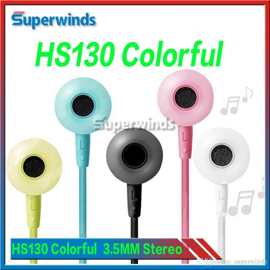 HS130 bunter Kopfhörer 3.5MM Stereomusik-Kopfhörer mit mic-Ohrhörern für Samsung-Galaxie Note7 S7 S6 geben DHL frei