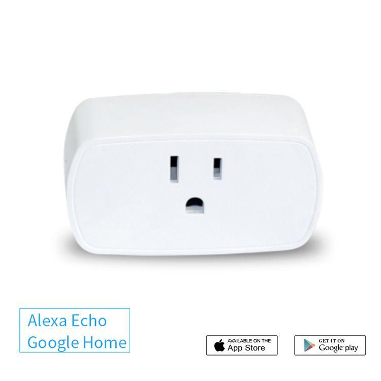 Smart Socket Mini WiFi US Plug Switch work with Echo Alexa Google Home Remote