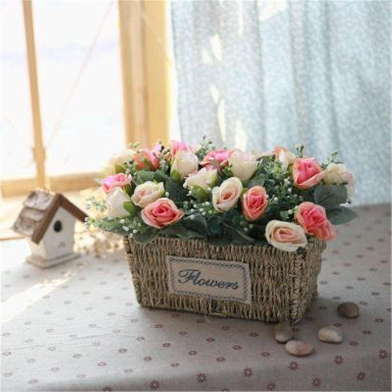 2020 Artificial Silk Rose Wedding Fake Flower Floral Arrangements Table Centerpieces Gift Home Kitchen Garden Living Room Party Decor From Kepi4 50 71 Dhgate Com