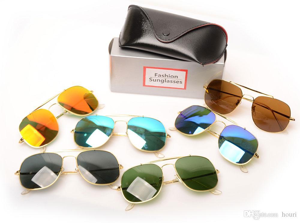 Top-Qualität 3561 Sonnenbrillen Designer-Sonnenbrillen Farbe Glaslinse Herren Sonnenbrillen Marke Unisex-Sonnenbrillen mit Box, Case, Booklet