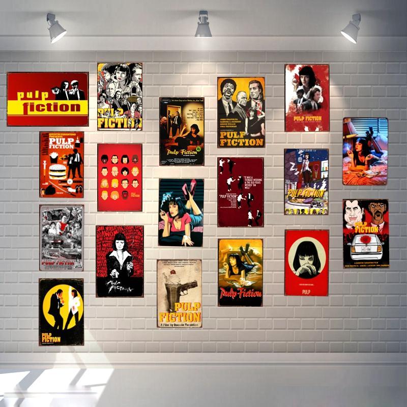 PULP FICTION Classic Movie Tin Sign Metal Retro Vintage Pub Hotel Cafe Home Art Wall Decor Unique Gift Cuadros A-1088