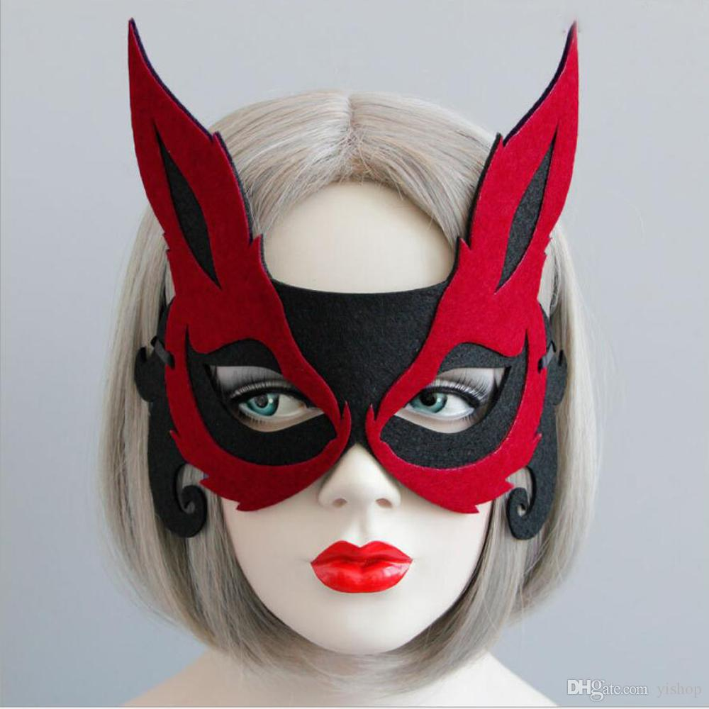 Beautiful Sexy Promotion Selling Party Mask Fox Shape Half Face Mask Venetian Masquerade Mask Party Mardi Gras Masks Masquerade Halloween