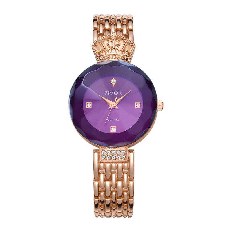 Elegant Crown Watches for Women Rose Gold Gold Silver 3 Colors Fashion Quartz Wrist Watch Clock Women Girls Lovers Watch Band