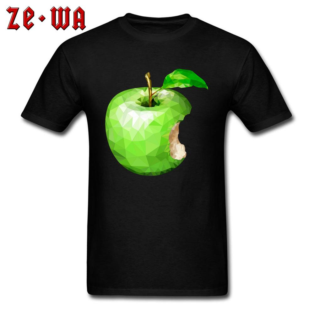Adult T-shirt Men Green Apple Print Tshirt Personalized Tops Tees Geometric Art Designer Clothes Summer Novelty T Shirts XXXL
