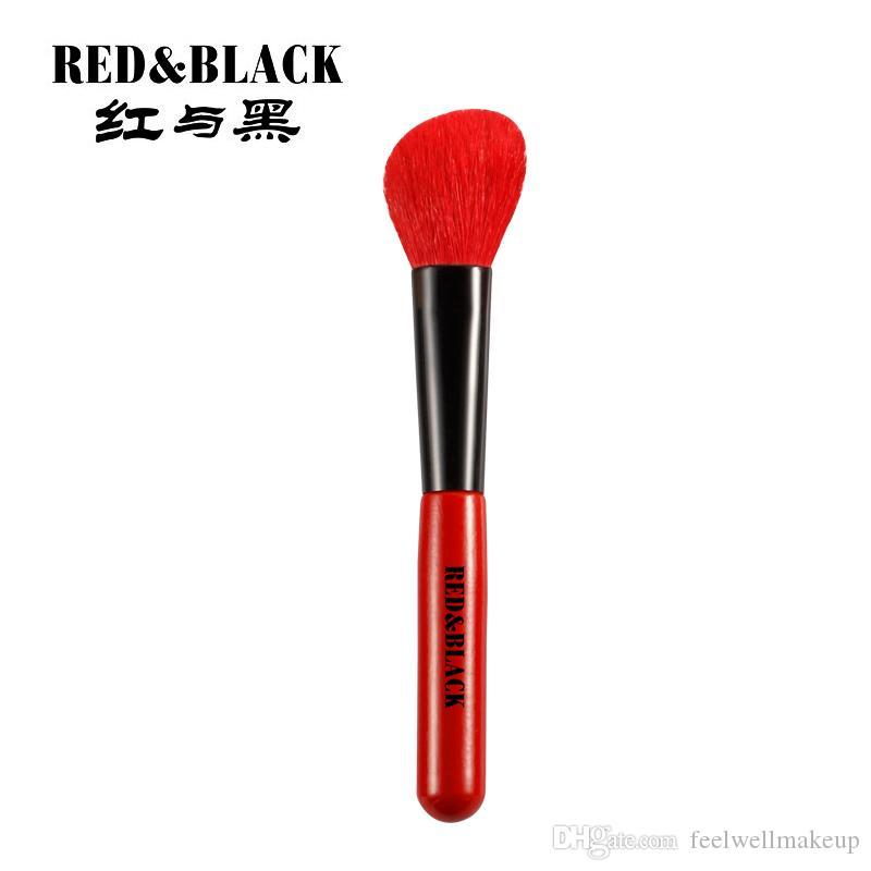 RedBlack Cosmetic Bevel outline Blush Brushes Professional Facial Cuidado de la piel Pinceles de maquillaje Cosmetic Makeup Brushes
