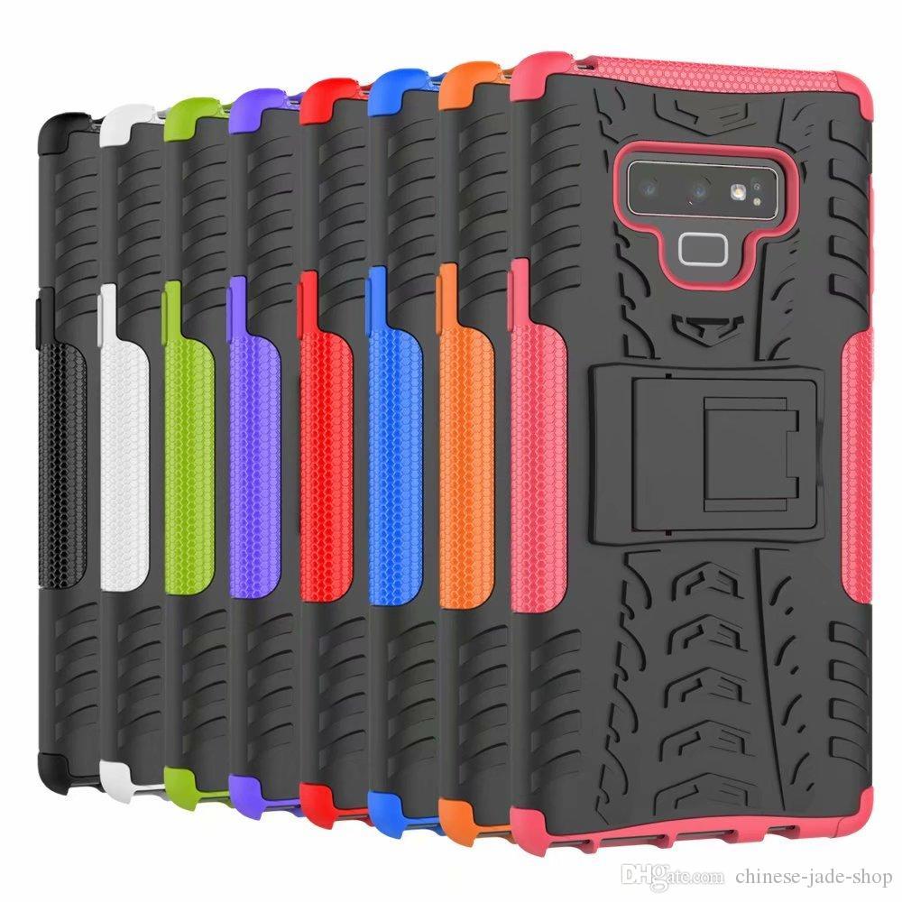 Mini 50p / Kolor Ciężki wytrzymałość Dual Layer Impact Hybrydowy Kickstand Case Cover dla Samsung Uwaga 9 iPhone XR XS XS Max LG G7 Moto 500 sztuk / partia