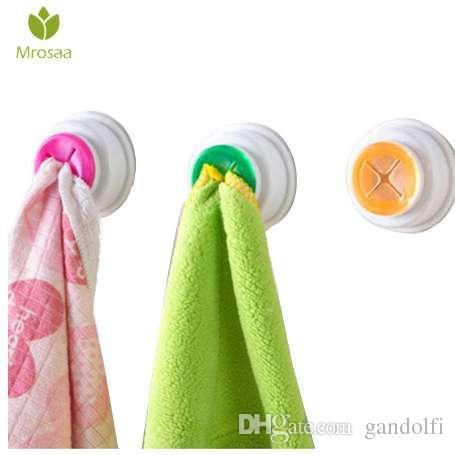 1 Pcs Mrosaa Household Washcloth Clip Holder Dishclout Storage Hook Kitchen Bathroom Detachable Hand Towel Rack Organizer Hanger