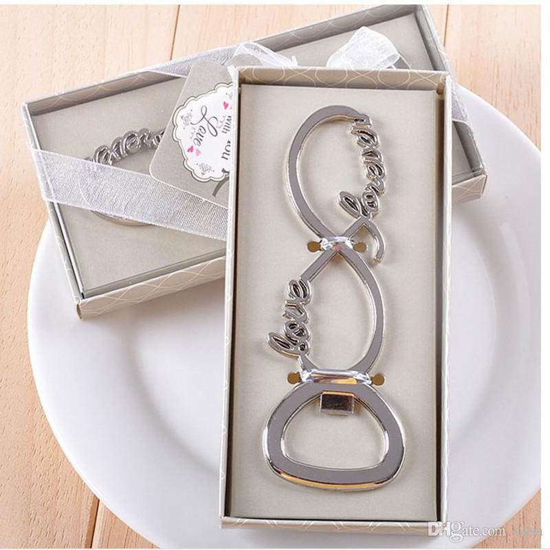 El más nuevo para siempre amor de cromo abrebotellas favores de boda y regalos para invitados Proveedor de regalos para fiestas Ducha nupcial