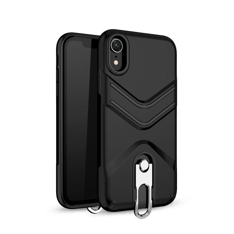 For iphone 9(2018) X XS plus case 2 in 1 bracket hook phone case with finger ring buckle holder 6.5 inch