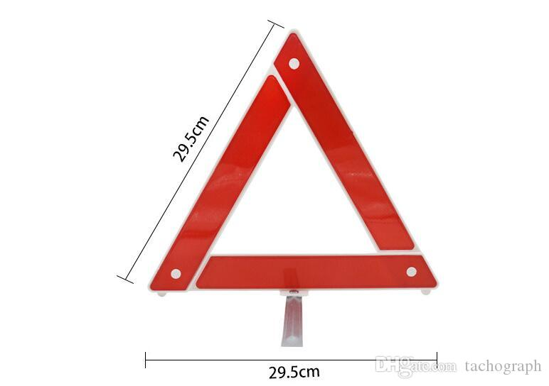 Triangle warning signs for vehicles, folding road parking safety emergency tools, reflective tripod