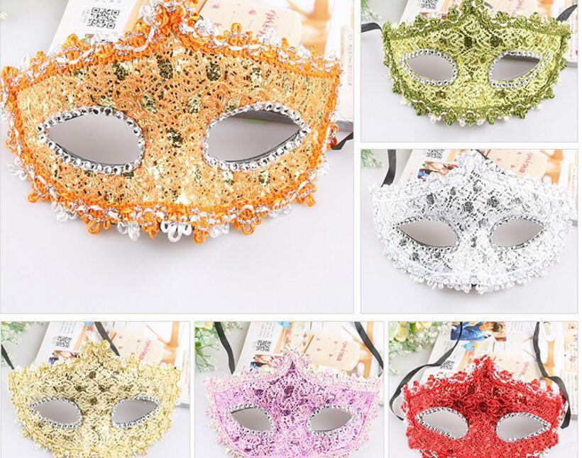 Princess Lace Maska, Maska Pół twarzy, Masquerade, Dance Party, Lovely Veil, Moda Seksowna Maska
