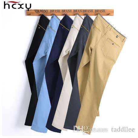 Мужские брюки 2018 новый дизайн повседневная hombres pantalones 98% хлопок тонкий брюки Прямые брюки мода бизнес брюки мужчины плюс размер