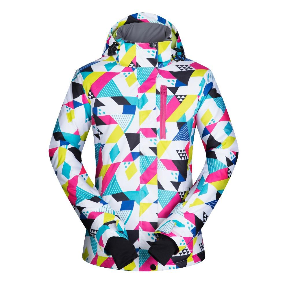 High Quality Women Snow Skiing Jacket Windproof Waterproof Breathable Women's Snowboard Colorful Clothes Winter Sportscoat Hiking
