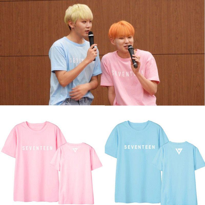 Damska koszulka KPOP siedemnaście Diamond Edge Koszule Hip Hop Casual Luźne Odzież Tshirt T Shirt Krótki rękaw Topy DX514