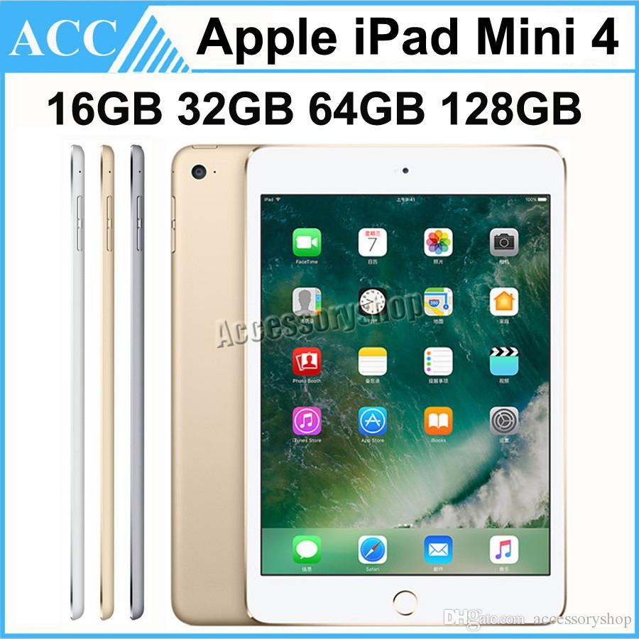 Recuperado Original da Apple iPad Mini 4 WIFI versão de 16GB 32GB 64GB 128GB 7,9 polegadas Retina Display 1pcs ISO Dual Core A8 Chipset Tablet PC DHL