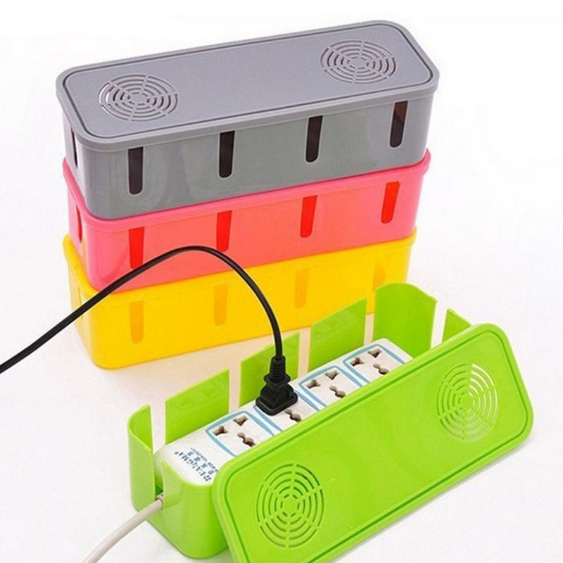 Power Cord Socket Received Case Cable Manager Organizer Heat Release Hole Box Dustproof Safety Clean Net Accessories