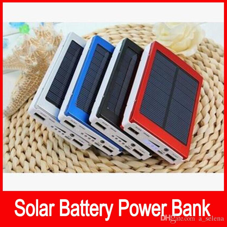 High Capacity 50000 mah Solar Charger Battery 50000mAh Solar Charger Panel Dual Charging Ports portable power bank for Cell phone MP3 MP4