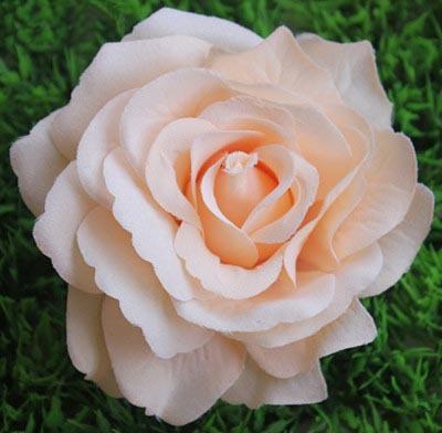 10 cm Tela Grande de Alta Calidad de Seda Rosas Jefes Diy Colgando Besar Bolas Arreglos Florales Accesorios de Boda Decoraciones 10 unids / lote