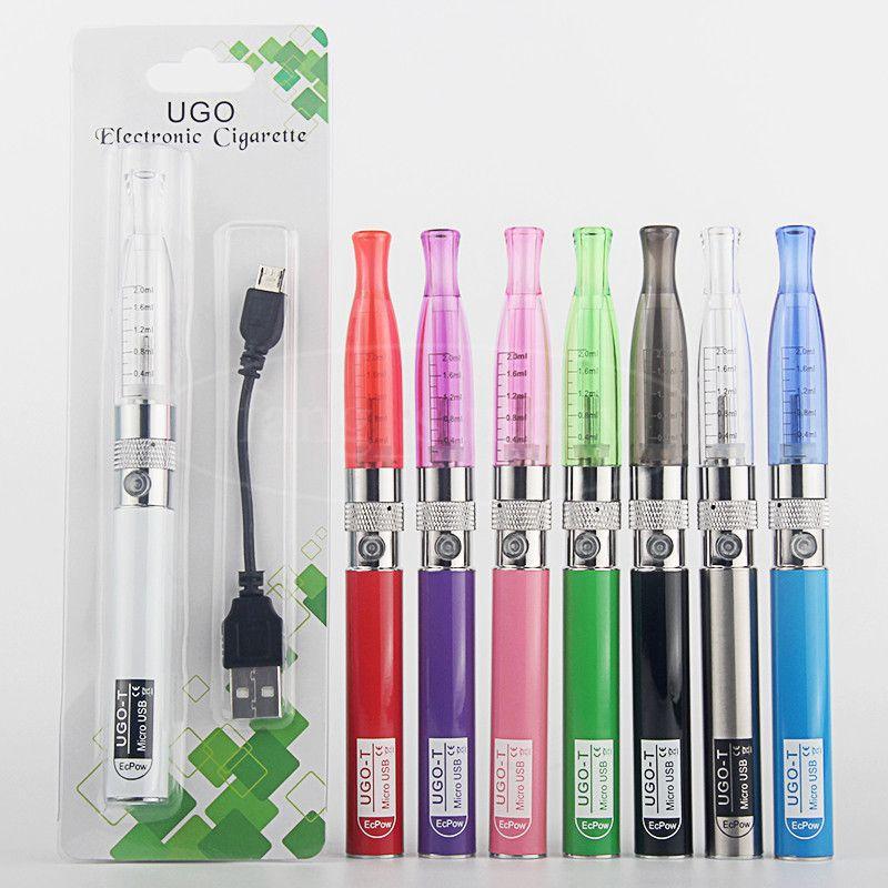 E Cigarettes EGO T H2 CE4 Blister Pack Starter Kits 650 mAh UGO Vaporizer 510 Thread Vape Pen Battery Micro USB Passthrough Charger