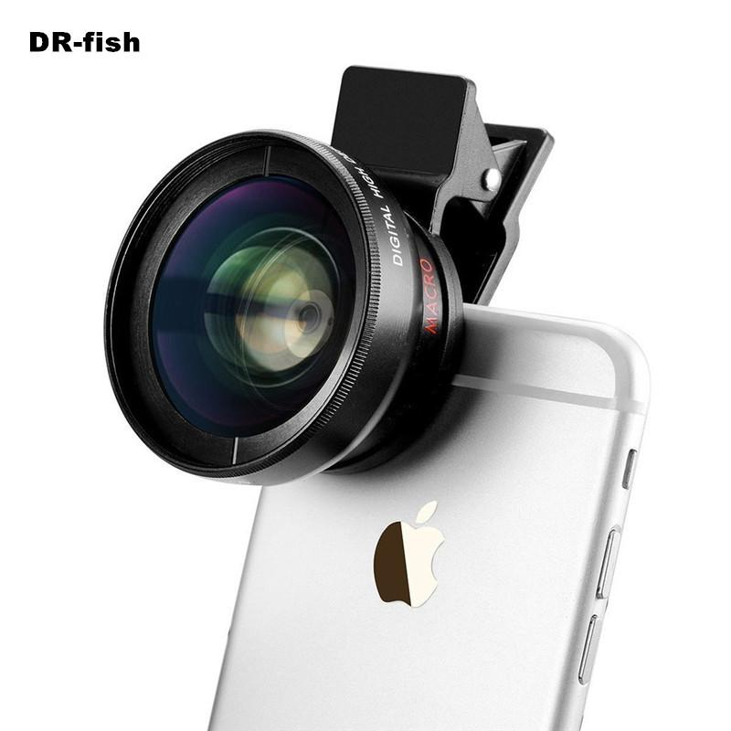 HD 37MM Lens Super 0.45x Wide Angle 12.5x Macro Phone Lenses For iPhone 6 5S 7 Samsung S6 S7 Edge xiaomi redmi 4 Camera lens Kit