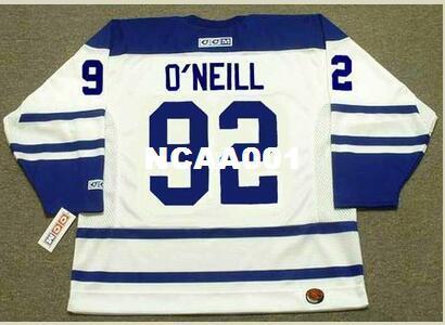 Mens # 92 JEFF O'NEILL Toronto Maple Leafs 2005 CCM Rétro Hockey Jersey ou personnalisé tout nom ou numéro rétro Jersey