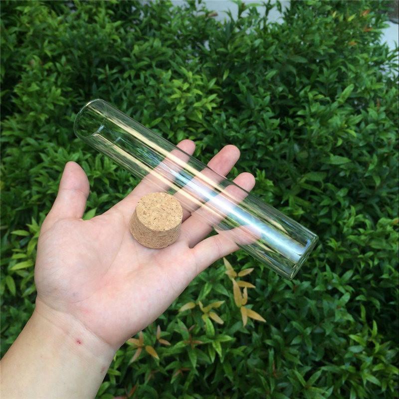 150ml Large Glass Bottles Vials Jars With Corks Storage Bottles Jars Glass Transparent Clear Big Bottles Corks (6)