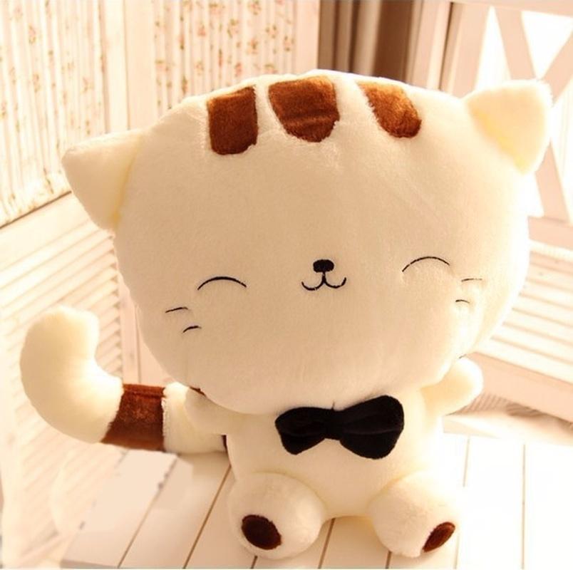 heureux gros chat poupée peluche grand visage chat gros chat balle riz queue cadeau Saint-Valentin