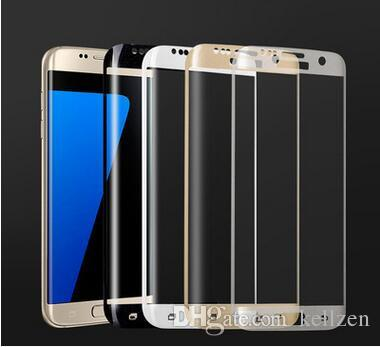 Samsung tempered Glass Screen Protector For Samsung S6 S7 S8 edge plus Note 8 3D Curved Full Coverage cell phone screen protect