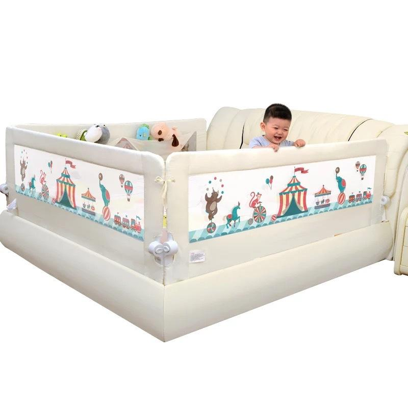 Babybed Aan Bed.2019 Baby Bed Crib Fence 1 5 2 Meters Fall Guardrail Heightening Baffle Bed Rail With Big Pocket From Jasmineer 133 57 Dhgate Com