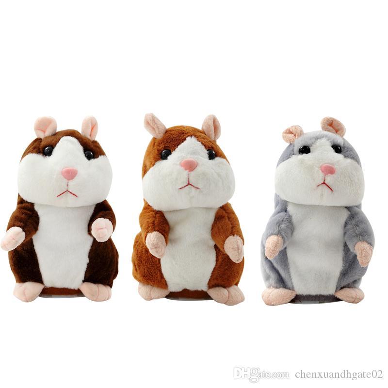 2019 Talking Hamster Mouse Pet Plush Toy Hot Cute Speak Talking Sound Record Ham