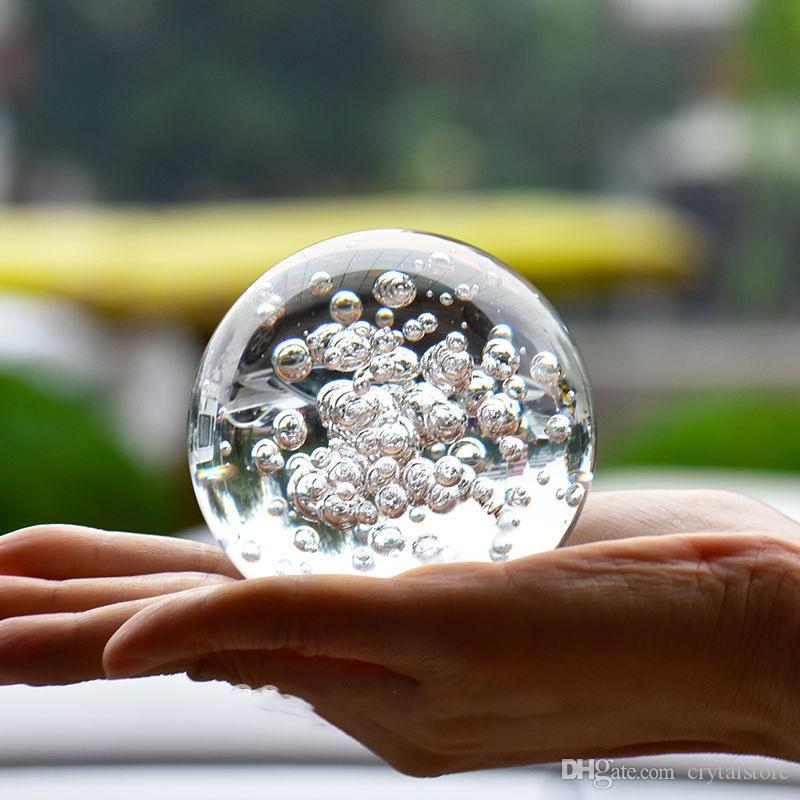 2020 Crystal Glass Marbles Water Fountain Bubble Ball Feng Shui