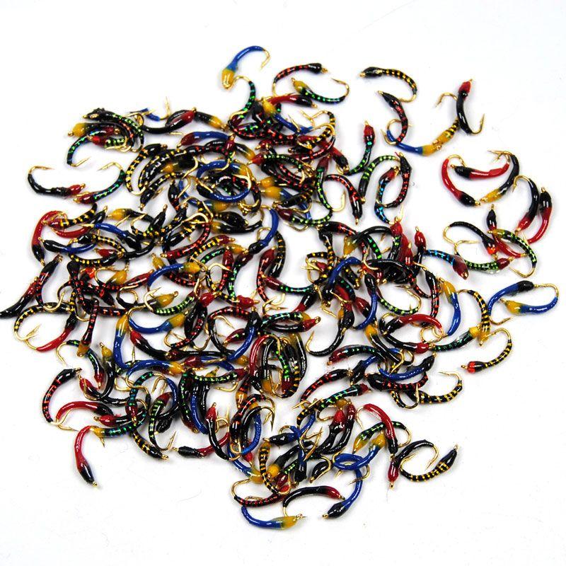 20 قطع متنوعة الايبوكسي حورية الذباب ميدج هيجين السلمون الأبيض السمك الطعم الصيد الاصطناعي أسماك السحر حجم 12 14 16 18