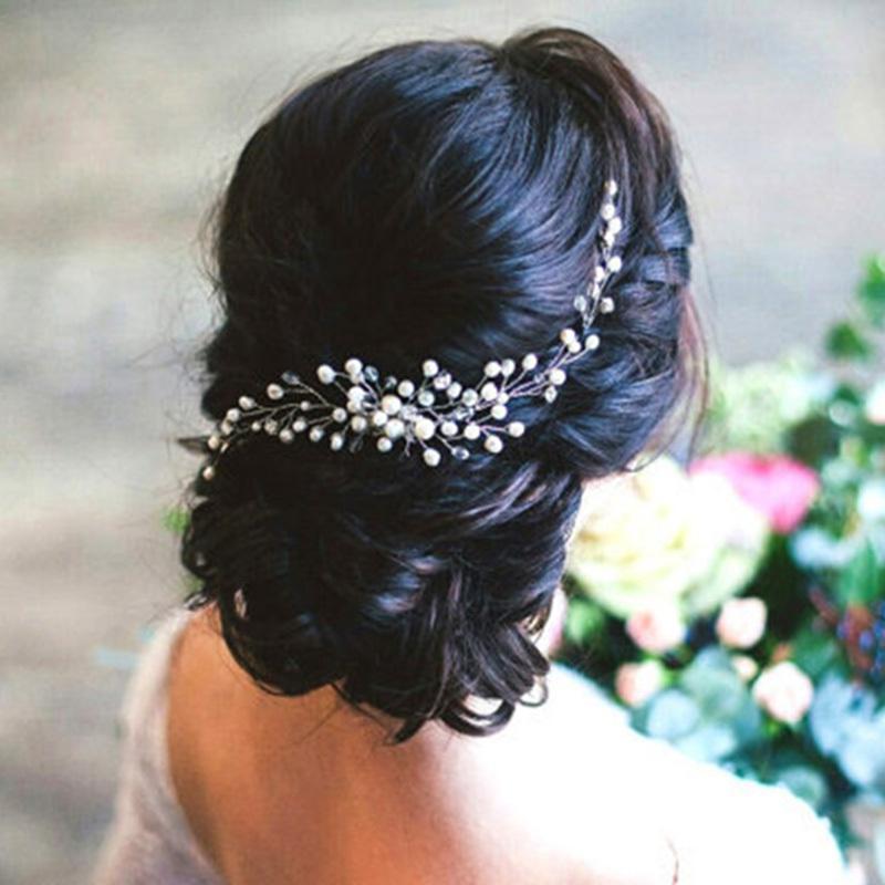Adornos para el pelo nupcial Moda Hairwear Accesorios para el cabello de la boda Peine para el cabello Mujeres Chica Tocado Headdress Head Decoration Pin S926