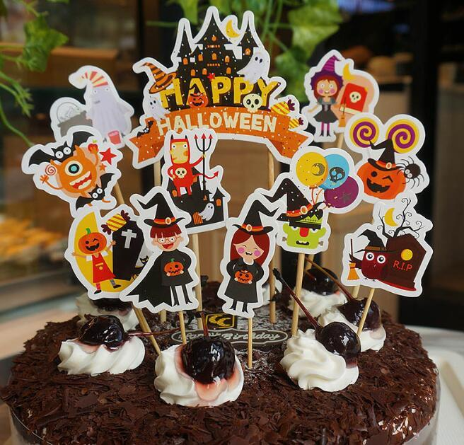 2019 Halloween Cake Toppers Cuptake Topper Halloween Decorations