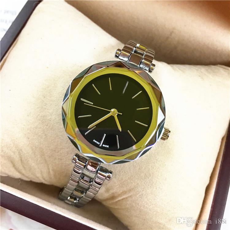 2019 nuove donne modello di orologio in oro rosa Lady orologio da polso in acciaio inossidabile Stella Shinning Dial signora brillantezza diamante prezzo all'ingrosso orologi di dialogo libero