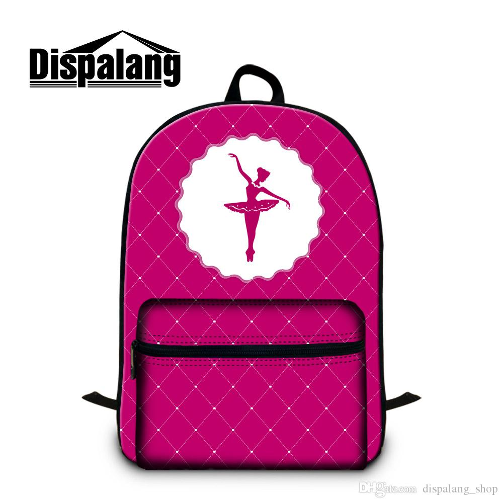Girls School Backpack Laptop Bookbag Green Ballet Girl Design Shoulder Back Pack Cute Rucksack for Women Travel Book bag Day Pack Children