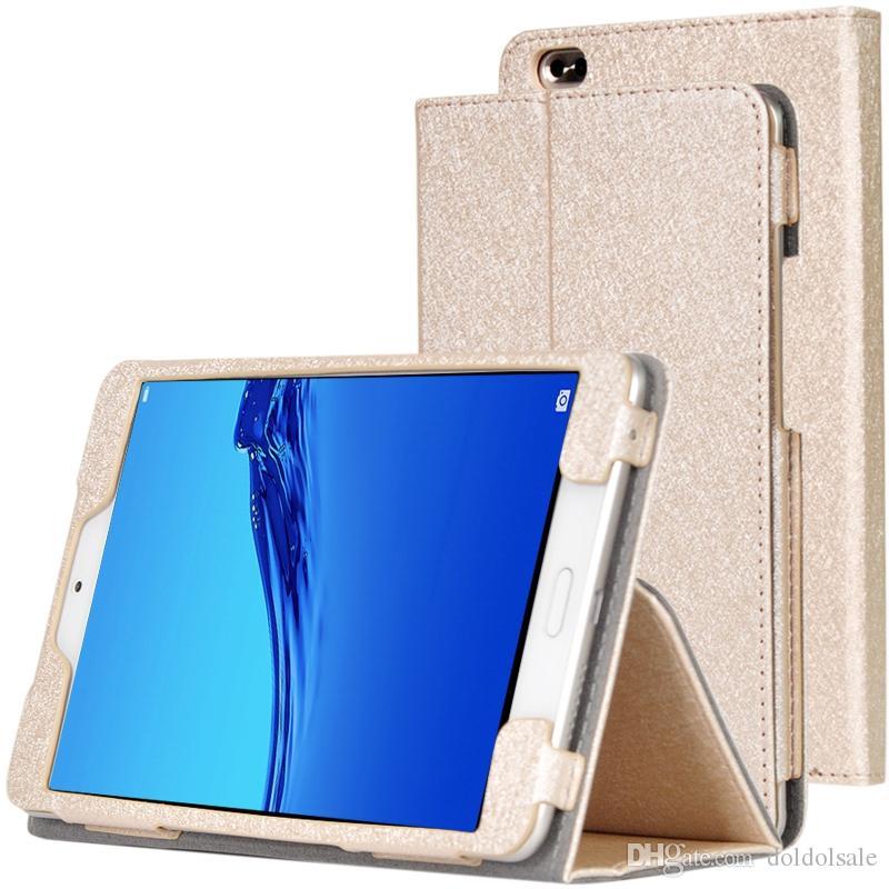실크 패턴 Huawei Mediapad 명예 워터 플레이 8.0 인치 HDL-W09 HDL-Al00 타블렛 핸드 스트랩 스타일러스 펜에 대 한 PU 가죽 케이스 플립 북 커버